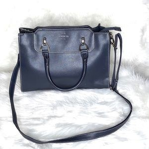 London Fog Blue Handbag Silver Hardware